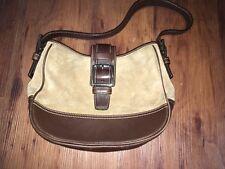 COACH Off White/Camel Leather SOHO Shoulder Bag Purse