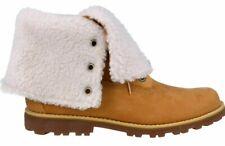 "Junior Girls Womens Timberland Wheat Winter Autumn 6"" Boots Size Roll Top 6 Inch"