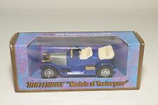 + MATCHBOX YESTERYEAR Y-2 Y2 Y 2 1914 PRINCE HENRY VAUXHALL BLUE MINT BOXED