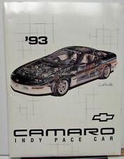1993 Chevrolet Camaro Z28 Indy 500 Pace Car Press Kit Media Release Rare