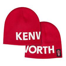 Kenworth Oversized Letterblock Red Winter Beanie Cap