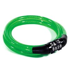KUJI LIGHTWEIGHT 8MM X 900MM CABLE LOCK WITH 4-DIGIT COMBINATION LOCK – GREEN