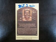 MONTE IRVIN AUTOGRAPH / SIGNED GOLD HALL OF FAME POSTCARD San Francisco Giants