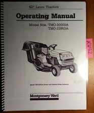 "Montgomery Ward 42"" Lawn Tractor TMO-30000A TMO-33953A Operator's & Parts Manual"