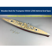 Wooden Deck for 1/350 Trumpeter 05316 German Admiral Graf Spee Model CY350021