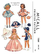 Vintage McCall Doll Clothes Fits Mary Hoyer Doll Fabric Sew Pattern #1564