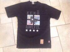 Ecko nero T. Shirt S-M in buonissima condizione Fit Petto 34 -36