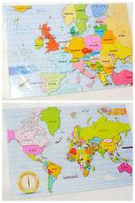 Nouveau 2 early learning géographie 48 piece jigsaw puzzles europe et carte du monde set