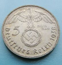 5 Reichsmark Nazi Silver Coin (Eagle and Swastika!)
