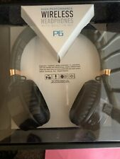 High Performance WIRLESS HEADFONES WHITH BUILT IN MIC (P6)