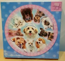 RACHAEL HALE DOGS CIRCULAR JIGSAW PUZZLE 1000 PIECES DOG LOVER NEW GIFT PUPPY 🐩