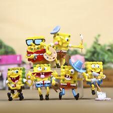 6 SpongeBob SquarePants Movie Action Figures Play Set Cake Topper Home Decor Toy