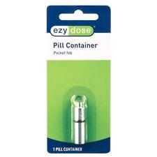Ezy Dose Pill Storage Keychain (Small) Pocket fob Nickel Plate Brass #67022