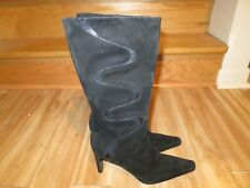 PALOMA ITALY BEAUTIFUL BLACK SUEDE BOOTS  SIZE 7 (37.5)