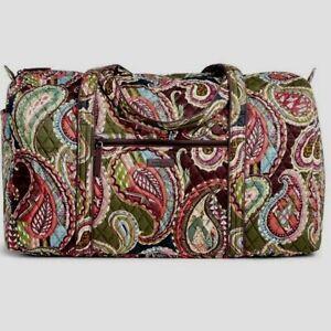 VERA BRADLEY~Iconic Large Travel Duffel Bag~HEIRLOOM PAISLEY~RARE~$85.00~NWT!