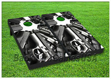 VINYL WRAPS Cornhole Boards DECALS Fully Loaded Guns Bag Toss Game Stickers 42
