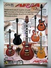 PUBLICITE-ADVERTISING :  Guitares ARIA Série PE  07-08/2007