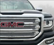 Chrome Grille Overlay Compatible with 2016 2017 2018 GMC Sierra 1500 SLT