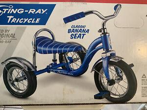 Schwinn Lil' Stingray Blue Tricycle Banana Seat Sissy Bar -Vintage 60's Inspired