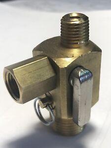 Manifold Air Compressor Safety Valve Ball OnOff Pressure Switch Gauge Port MV500