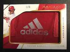 VICTOR ROBLES 2018 IMMACULATE ADIDAS LOGO GLOVE WASHINGTON NATIONALS 1/6