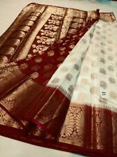 Nice colours n combinations Nylon silk dying material rich pallu with blouse