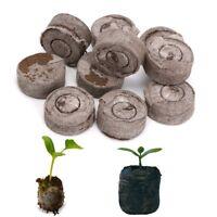 Nursery Block Peat Pellets Garden Flowers Planting Green Thumb Seedling Soil New