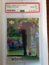 2001 Upper Deck Tiger Woods #1 Golf Card PSA 10 *GEM MINT*