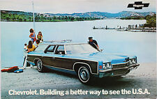 "1972 Chevrolet Station Wagon Sales Brochure Poster 72 Chevy Chevelle 11""x17"""