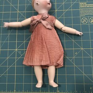 CREPE DRESS for BLEUETTE Antique Doll Reproduction Handsewn