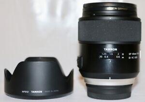 Nikon Tamron SP 45mm f/1.8 DI VC USD Mint Condition + Hood + B+W UV MRC Filter