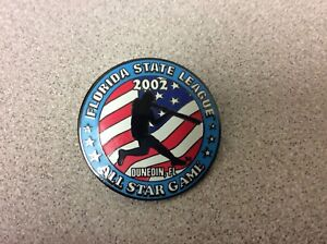 2002 Florida State League All Star Game Collectible Baseball Pin! Dunedin, FL