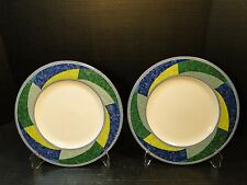 """Mikasa Ultima + China Color Image Dinner Plates 10 3/4"""" HK230 TWO EXCELLENT!"""