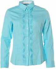 X4243 KITARO Langarm Bluse Hemd 38 blau hellblau NEU