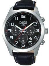Pulsar Gents Chronograph Leather Strap Watch - PT3667X1 PNP