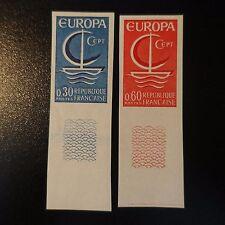 FRANCIA EUROPA Nº1490/1491 SELLO NO DENTADO IMPERF 1966 NEUF LUXE MNH