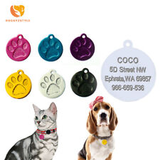 Anti-lost Dog ID Tag Engraved Pet Cat Tags Name Phone Number Collar Accessories