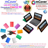 """NEW CLEAR mCover® HARD Shell CASE for late-2019 11.6"""" HP Chromebook X360 G2 EE"""