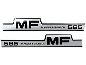 BONNET DECAL SET FOR MASSEY FERGUSON 565 TRACTORS.