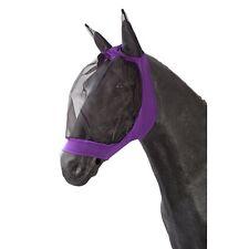 PFIFF Masque pour les chevaux - Mauve - hotte anti-mouches voler de protection
