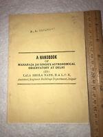 Old Maharaja Jai Singh's Astronomical Observatory At Delhi Handbook- Lala Nath