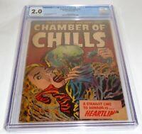 Chamber of Chills #23 CGC Universal Grade Comic 2.0 Classic Pre Code Horror 🔥