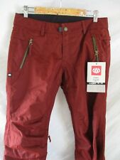 686 After Dark Infidry 10K waterproof red snowboard ski snow pants Small new