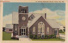 Postcard Atlantic Methodist Church Ocean City MD Maryland