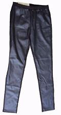 sexy Hose PANTS M 40/42 Lederbesatz schwarz Jeggings creora Leggings