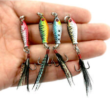 Hard Metal Fishing Lures Small Minnow Lure Bass Crank Bait Tackle Hooks KY