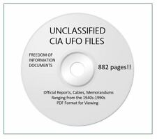 UNCLASSIFIED CIA UFO research docs about UFOs in USA & the world! 882 pages DVD