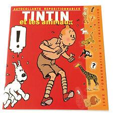 TINTIN et les Animaux- Autocollants Adesivi Stickers - MOULINSART 2002 HERGE TIN