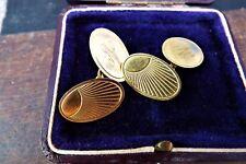 9Ct Gold Cufflinks- 4Grams Fine Pair Of Antique