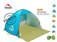 Portable beach canopy sun shade automatic pop-up anti-UV protective beach tent